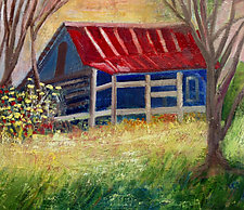 My Barn by Albert Barcilon (Oil Painting)