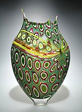 Emerald Foglio by David Patchen (Art Glass Vessel)