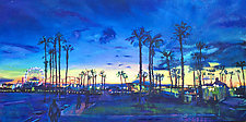 Sunset Palms Santa Monica by Bonnie Lambert (Oil Painting)