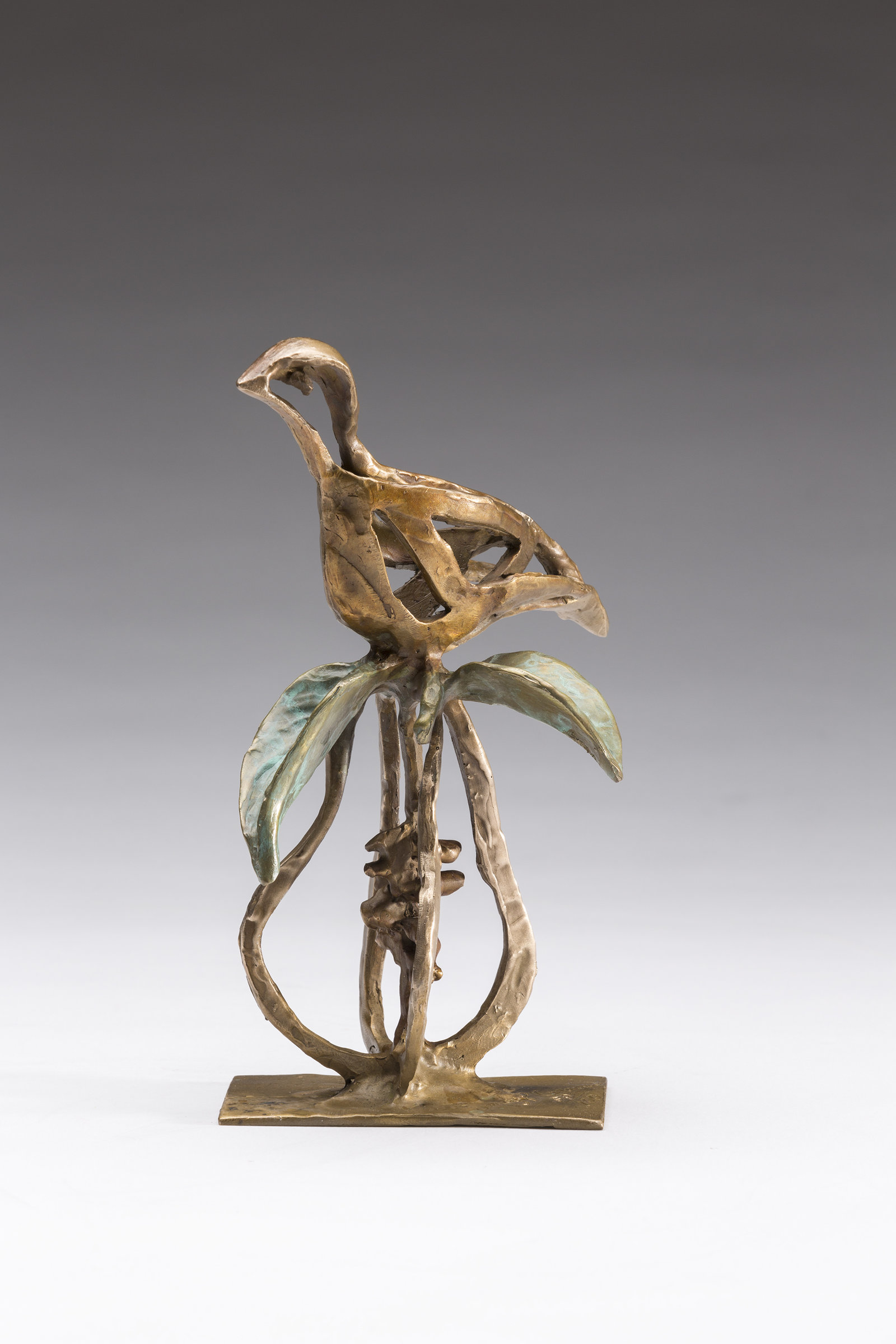 partridge on a pear by sandy graves  bronze sculpture
