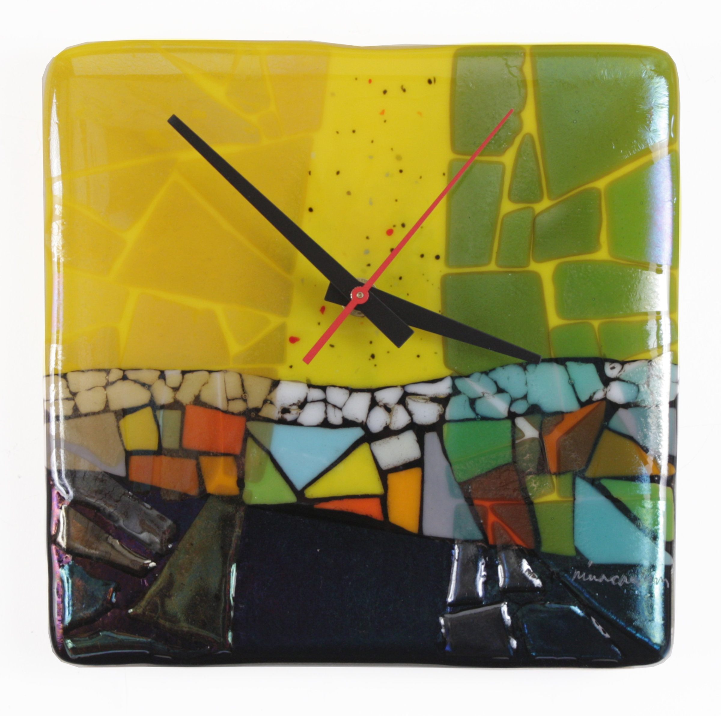 Calypso By Nina Cambron Art Glass Clock Artful Home