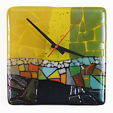 Calypso by Nina  Cambron (Art Glass Clock)