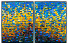 Sunset Reflections Diptych by Tim Harding (Fiber Wall Hanging)