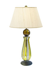 Jewel Lamp with Dome Foot by Tracy Glover (Art Glass Table Lamp)