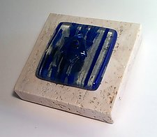 Star of David Paperweight by Alicia Kelemen (Art Glass & Marble Paperweight)