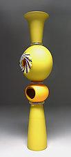 Mustard Dwelling by Scott Summerfield (Art Glass Sculpture)