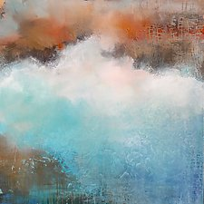 Liquid Blue by Karen  Hale (Acrylic Painting)