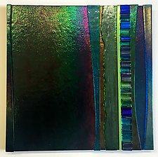 Waterfall Emerald III by Alicia Kelemen (Art Glass Wall Sculpture)
