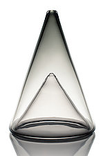 Ombre Cone with Cone Inset by Aaron Baigelman (Art Glass Vessel)