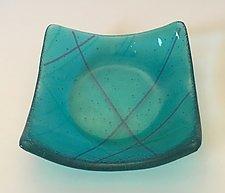 Aqua I by Alicia Kelemen (Art Glass Bowl)