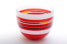 Desert Red by Benjamin Silver (Art Glass Bowl)