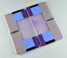 Plum Serving Plank Duo by Terry Gomien (Art Glass Trays)