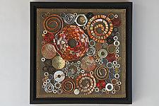 Supernova  II by Frances Solar (Mixed-Media Wall Sculpture)