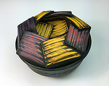 Mise en Abyme Lidded Jar by Thomas Harris (Ceramic Vessel)