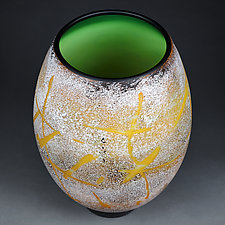 Simmering Summer by Eric Bladholm (Art Glass Vessel)