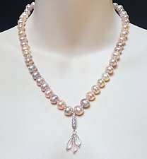 Natural Chinese Freshwater Pink Pearl Necklace by Kathleen Lynagh (Pearl Necklace)