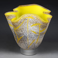 Lemon Lightning by Eric Bladholm (Art Glass Vessel)