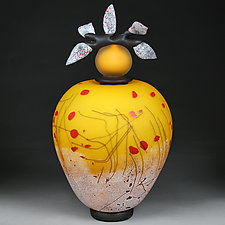 Litni Yabluka (Summer Apples) Large Prototype by Eric Bladholm (Art Glass Vessel)