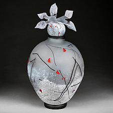Zimska Jabuka Jasan (Winter Apples Clear) Large Prototype by Eric Bladholm (Art Glass Vessel)