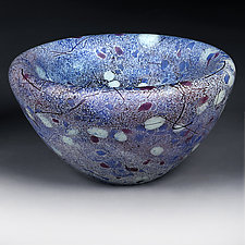 Big Bang Blues by Eric Bladholm (Art Glass Bowl)