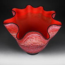 Osinni Vyshni (Autumn Cherries) by Eric Bladholm (Art Glass Vessel)