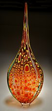 Apricot/Daffodil Resistenza by David Patchen (Art Glass Sculpture)