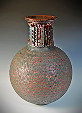Copper Night #2 by Tom Neugebauer (Ceramic Vase)