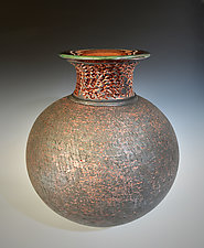 Copper Night #1 by Tom Neugebauer (Ceramic Vase)