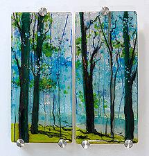 Conversations by Alice Benvie Gebhart (Art Glass Wall Sculpture)