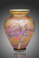 Desert Tree Vase by David Lindsay (Art Glass Vase)