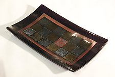 Sparkling Squares by Alice Benvie Gebhart (Art Glass Tray)