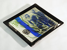 Serving Up Yesteryear IV by Alice Benvie Gebhart (Art Glass Tray)