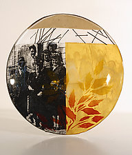 Serving Up Yesteryear by Alice Benvie Gebhart (Art Glass Bowl)