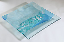 Turquoise Simplicity by Alice Benvie Gebhart (Art Glass Tray)