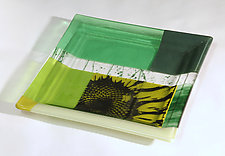 Serving Up Sunflowers by Alice Benvie Gebhart (Art Glass Tray)