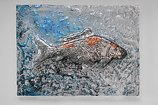 Koi Panel by Mira Woodworth (Art Glass Wall Sculpture)