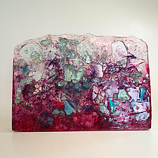 Fuchsia Wave by Mira Woodworth (Mixed-Media Sculpture)