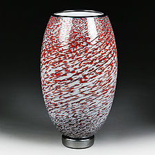 Zymova Vyshnya (Winter Cherries) Large Vase by Eric Bladholm (Art Glass Vessel)