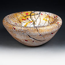 Litni Polya (Summer Fields) by Eric Bladholm (Art Glass Bowl)