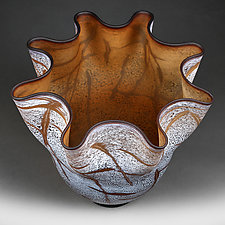 Winter Walnut by Eric Bladholm (Art Glass Vessel)