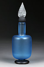Absolute Aqua Decorative Bottle Prototype by Eric Bladholm (Art Glass Bottle)
