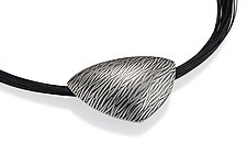 Black Grass Pillow by Tom McGurrin (Silver Necklace)