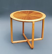 X-Base Table by Tracy Fiegl (Wood Side Table)