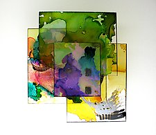 Plexi 1005 by Karen  Hale (Painted Wall Sculpture)