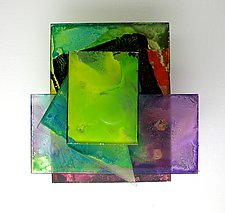 Plexi 1032 by Karen  Hale (Painted Wall Sculpture)