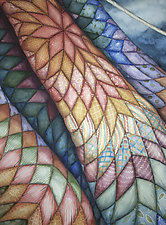 Morning Star Quilt by Helen Klebesadel (Watercolor Painting)