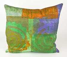 Swirl Pattern #1 Pillow by Ayn Hanna (Cotton & Linen Pillow)
