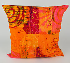 Hot Mod Swirl Pillow by Ayn Hanna (Cotton & Linen Pillow)
