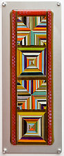 Striped Diamonds - Kaleidoscope by Mary Johannessen (Art Glass Wall Sculpture)
