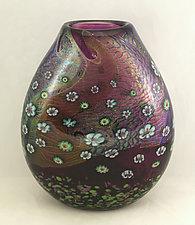 Amethyst Island Series Vase Lanai by Ken Hanson and Ingrid Hanson (Art Glass Vase)
